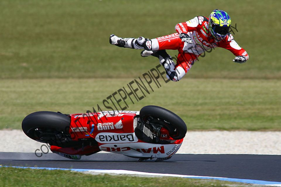 Damian Cudlin Crash - Phillip Island MotoGP